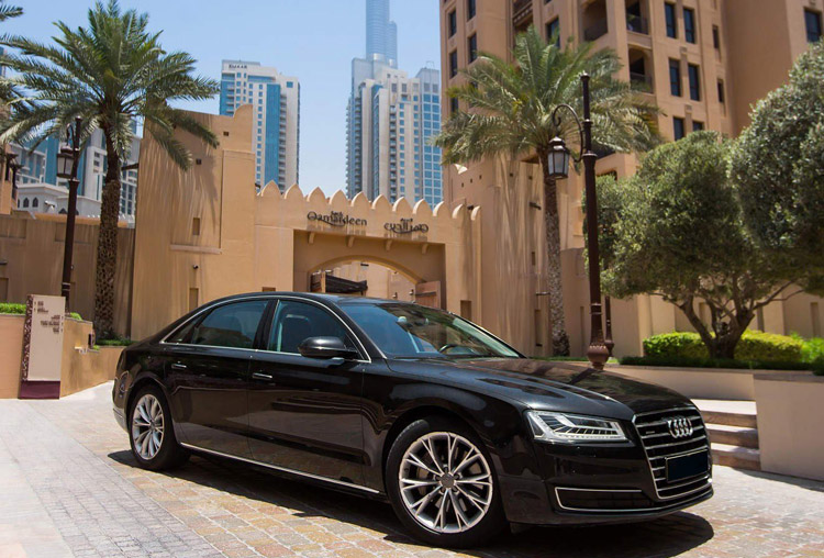Hire Audi A8 with Chauffeur service in Dubai