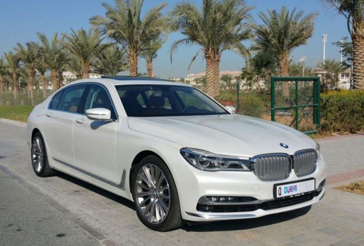 Hire BMW 7 series with Chauffeur  in Dubai