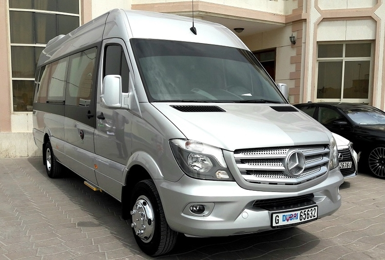 Hire Mercedes-Benz Sprinter 19 seater with chauffeur in Dubai